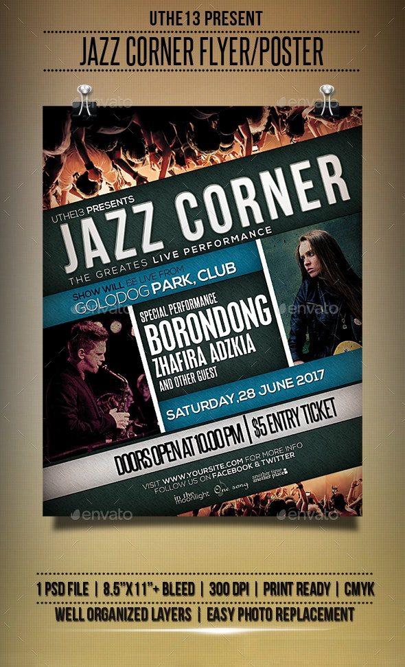 Jazz Corner Flyers/Poster - Events Flyers