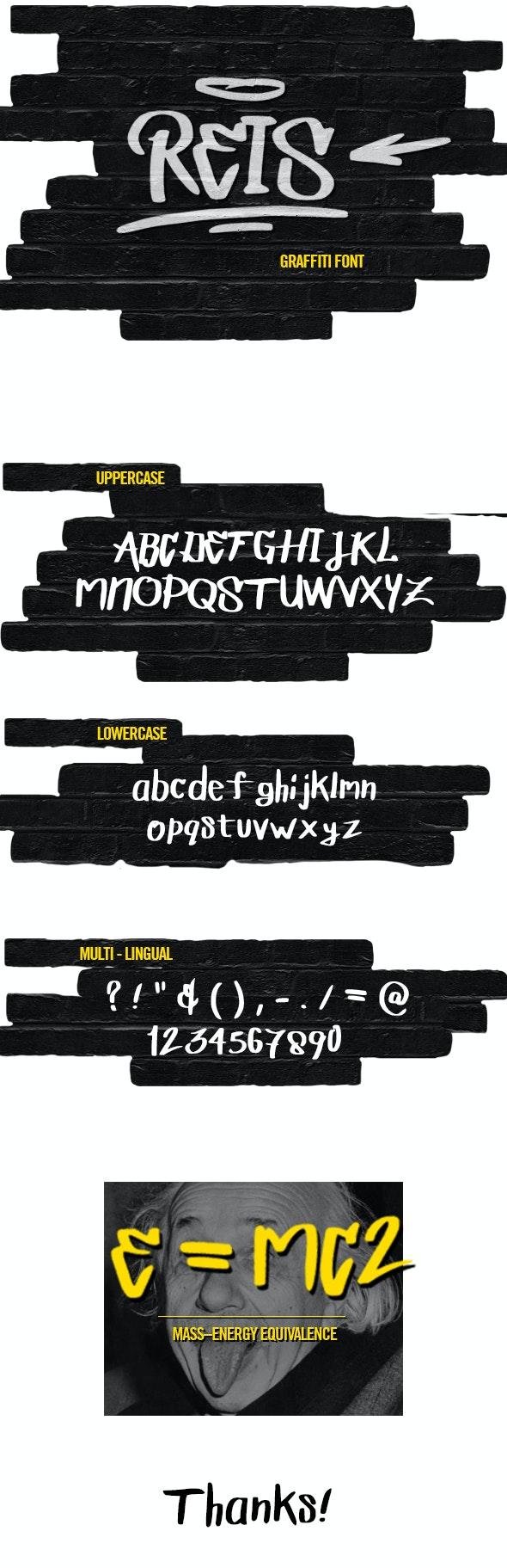 REIS GRAFFITI FONT - Graffiti Fonts