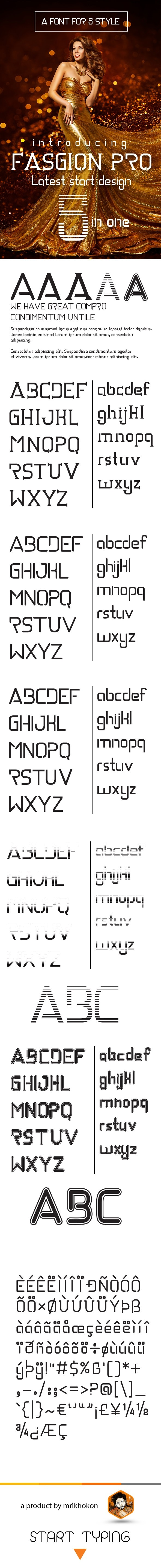 Fashion Pro - Serif Fonts