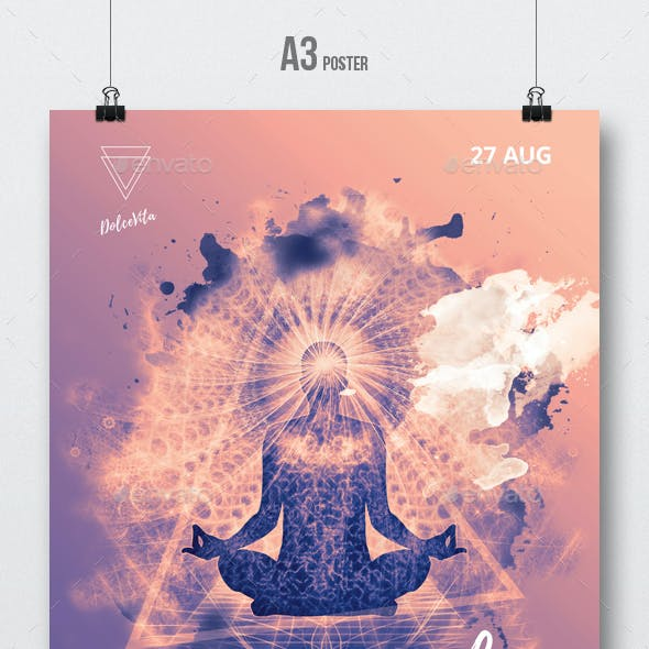 Spiritual Session - Party Flyer / Poster Artwork Template A3