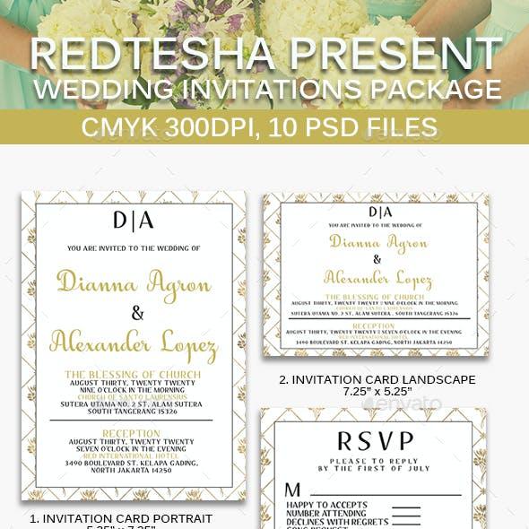 10 Wedding Invitation Package #3