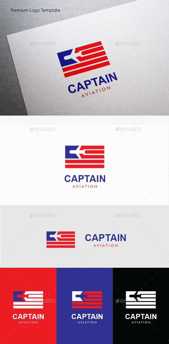 Captain Aviation - Symbols Logo Templates