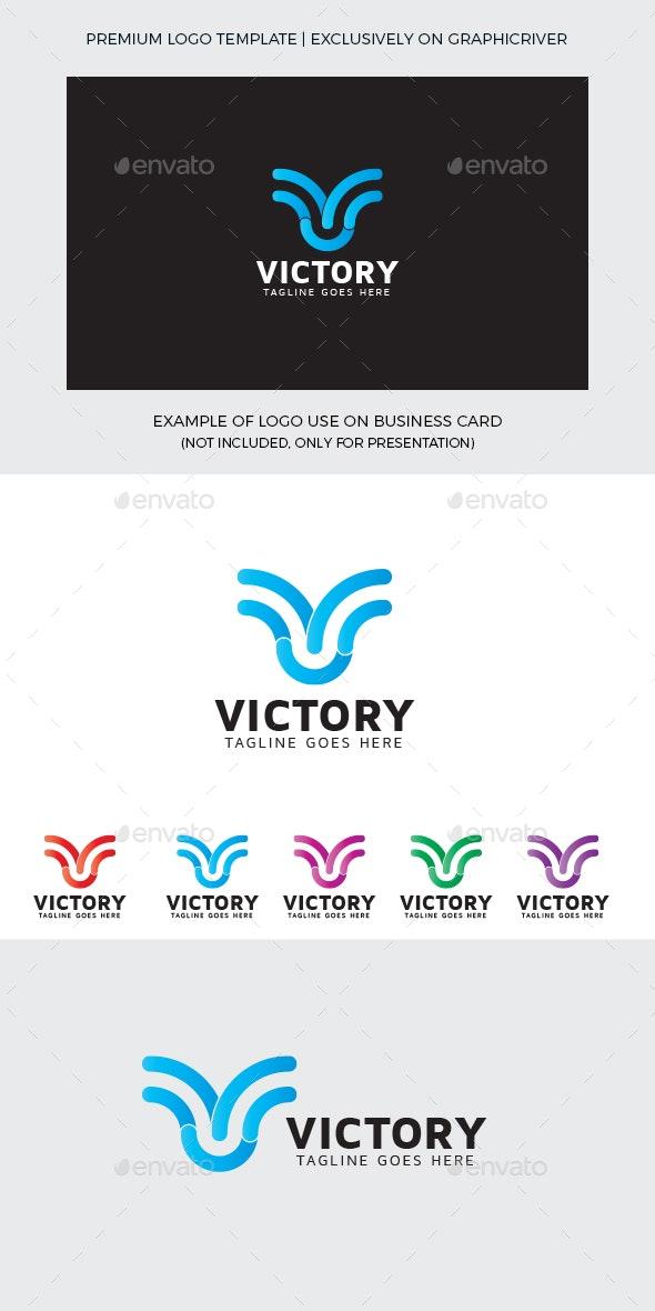 Victory V Letter Logo Template - Letters Logo Templates