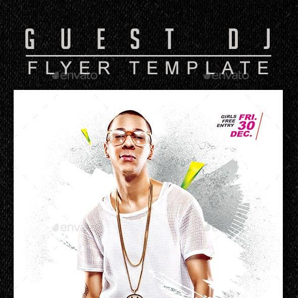Guest Deejay Flyer Template