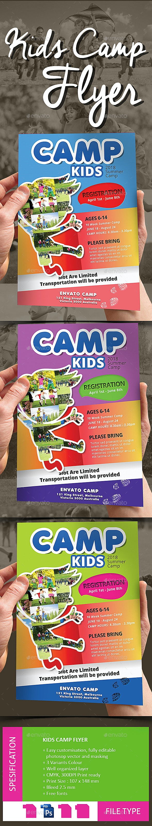 Kids Camp Flyer - Events Flyers