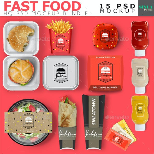 Fast Food Product Mockup Bundle