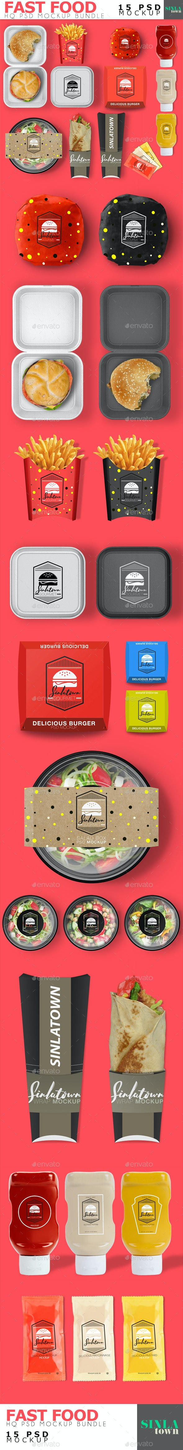 Fast Food Product Mockup Bundle - Product Mock-Ups Graphics
