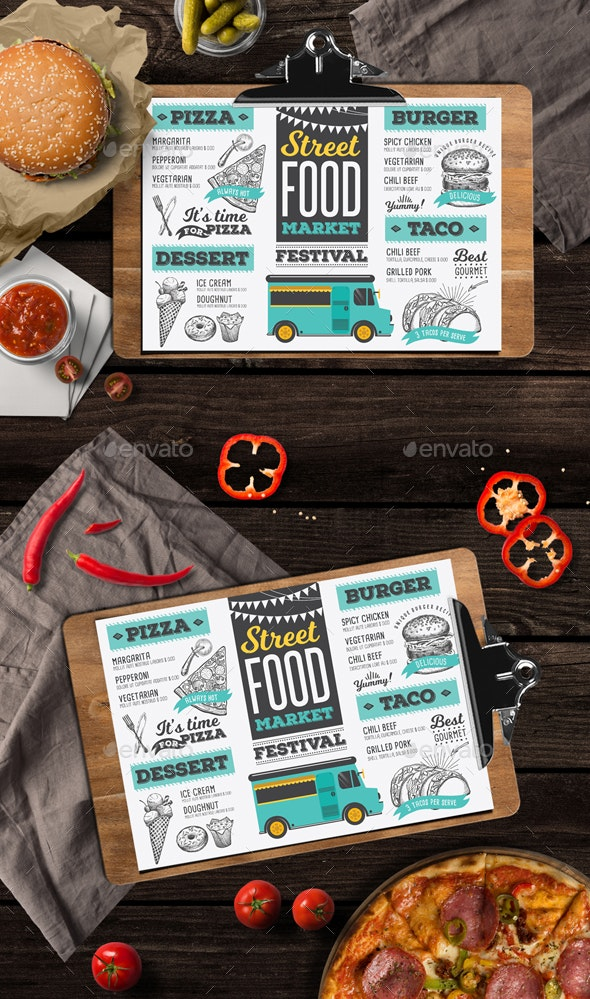 Food Truck Menu - Food Menus Print Templates
