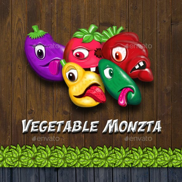 Vegetable Monzta - UI Kit