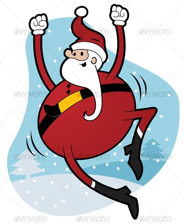 Happy Santa - People Characters