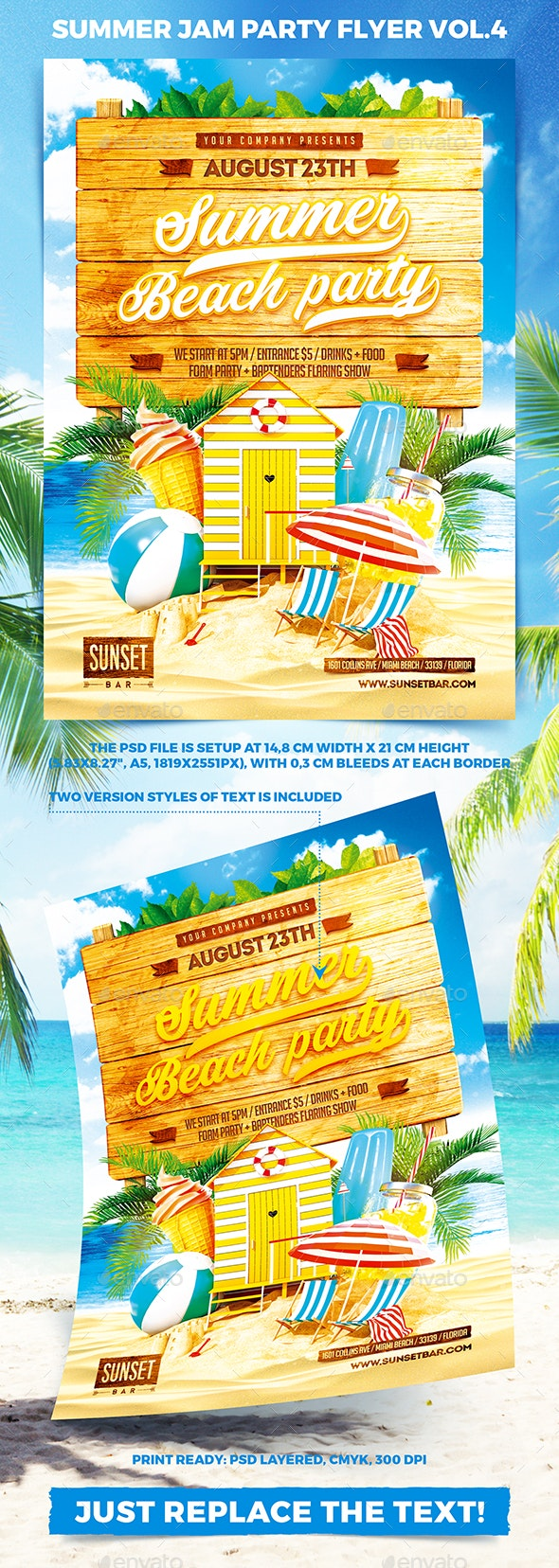Summer Jam Party Flyer vol.4 - Clubs & Parties Events