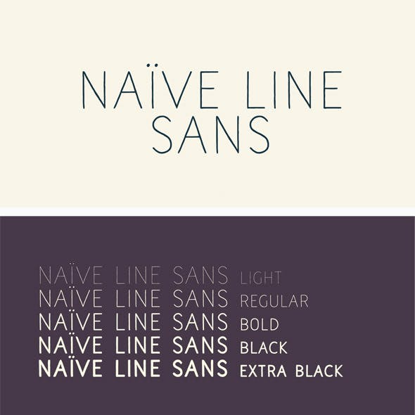 Naive Line Sans Font Pack