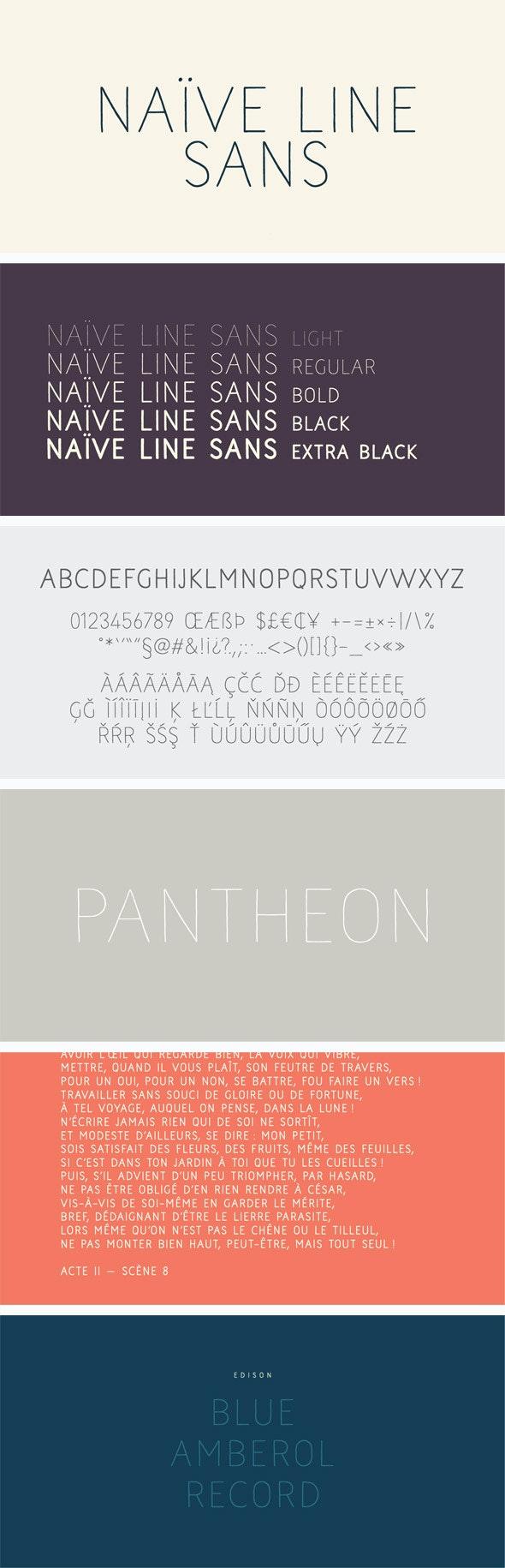 Naive Line Sans Font Pack - Sans-Serif Fonts