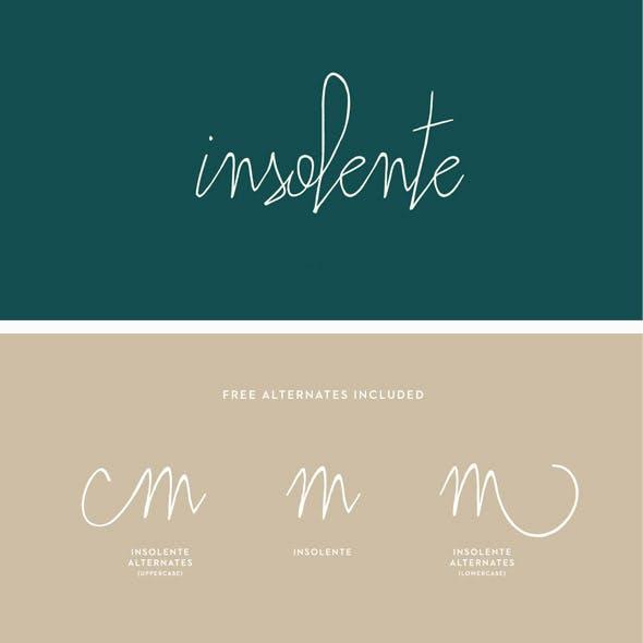 Insolente Font Pack