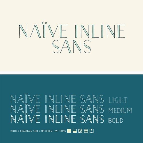 Naive Inline Sans Font Pack