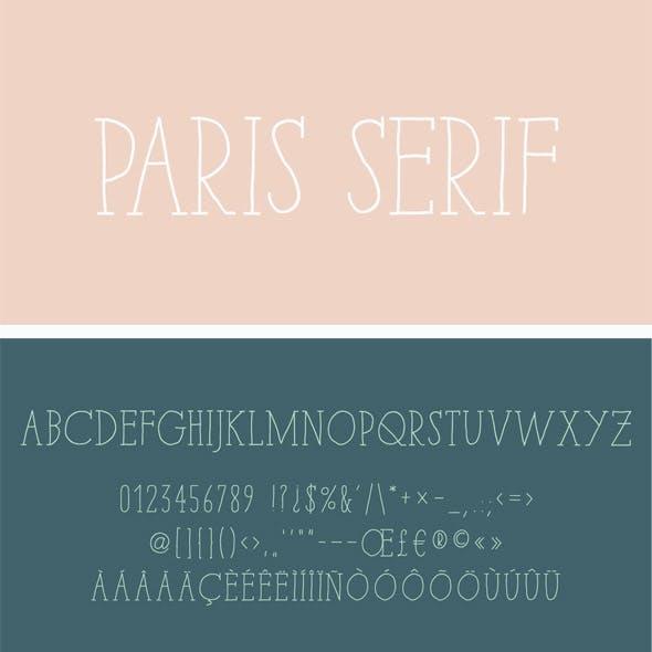 Paris Serif Font Pack