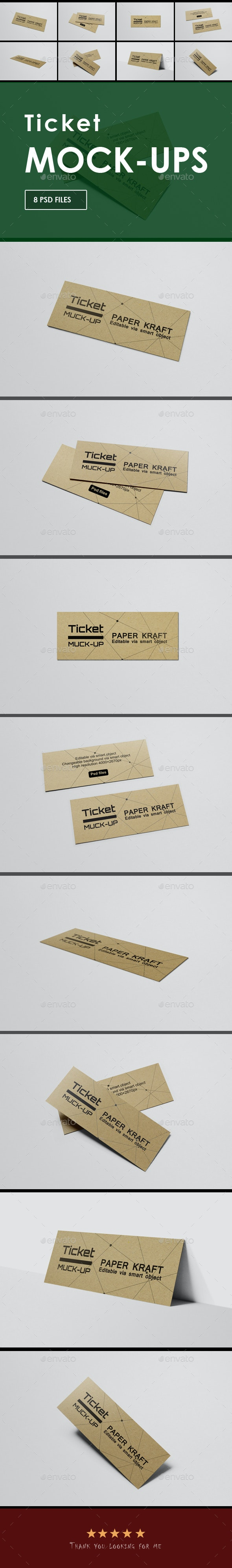 Ticket Mockup - Miscellaneous Print