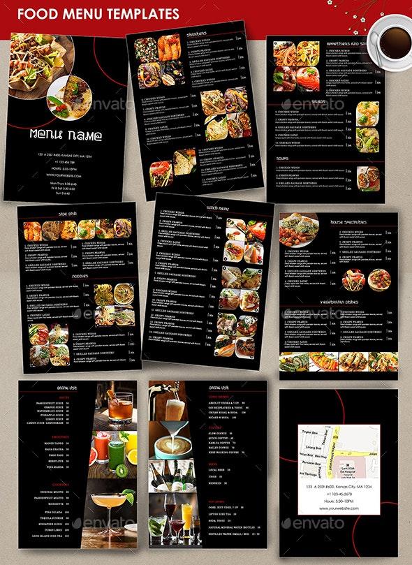 Restaurant Menu black - 9 Pages - Restaurant Flyers