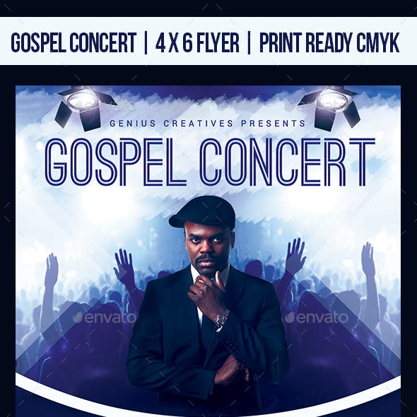 Gospel Concert Church Flyer