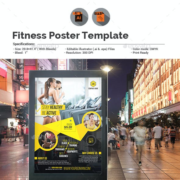 Fitness Or Gym Poster Template