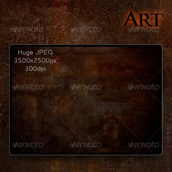 Abstract Art Painting; Dark Exotic
