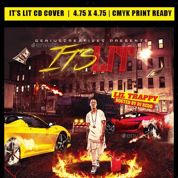 It's Lit Mixtape Cover Tempate
