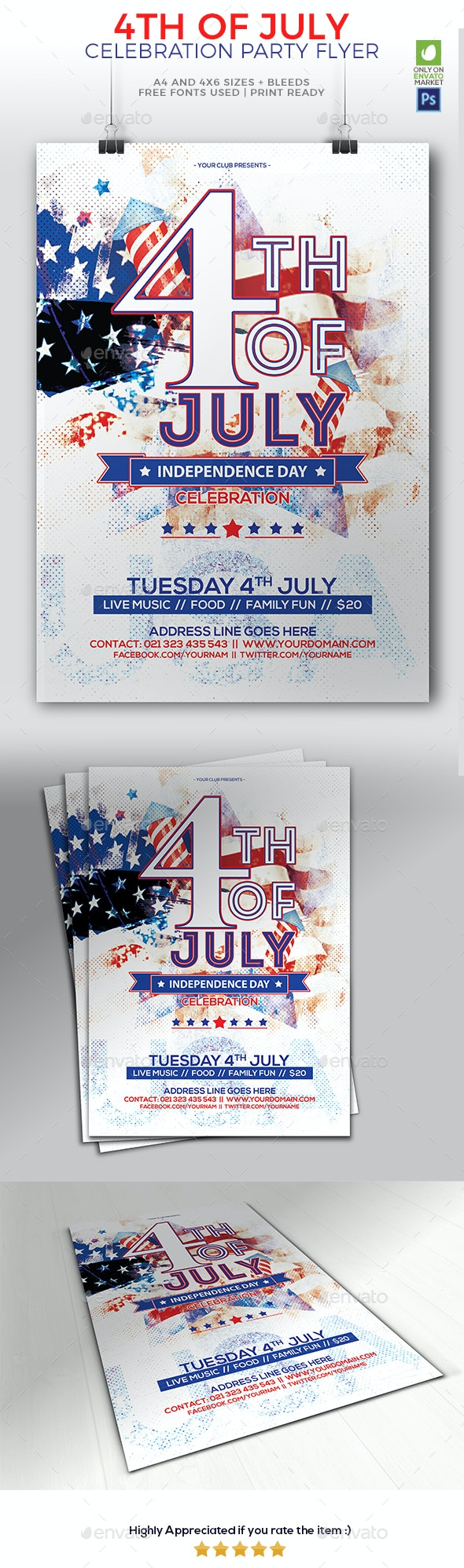 4th Of July 01 - Events Flyers