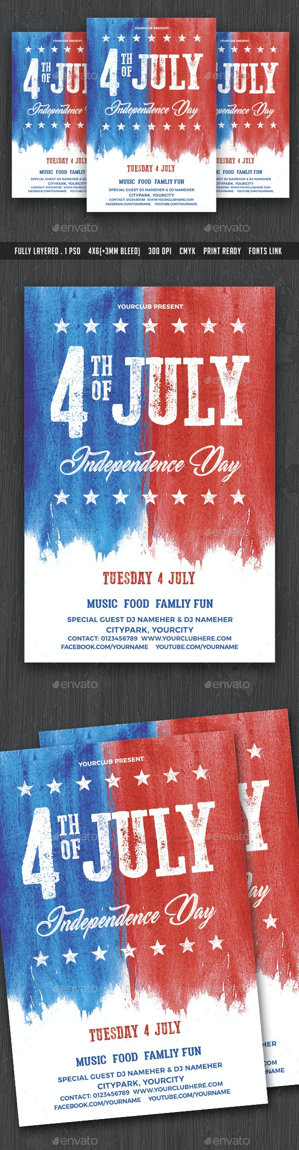 4th of July Flyer Template - Holidays Events