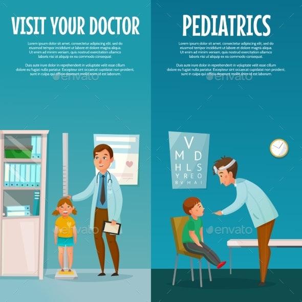 Pediatrician and Kid Vertical Banners - Health/Medicine Conceptual
