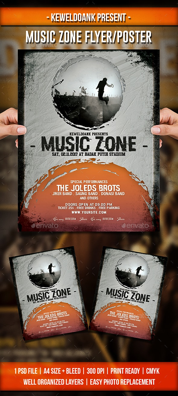 Music Zone Flyer / Poster - Events Flyers