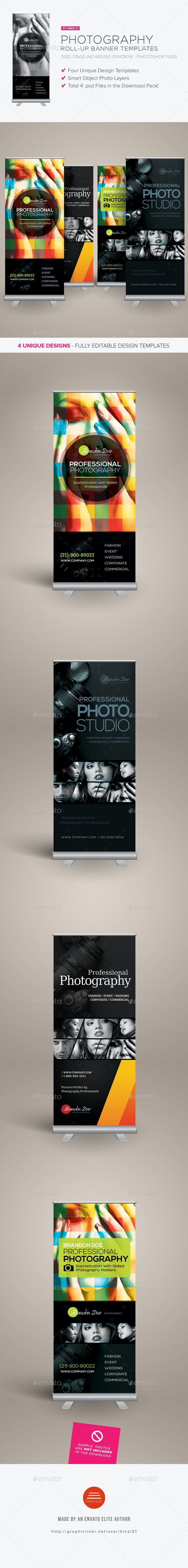 Photography Roll-up Banners - Signage Print Templates
