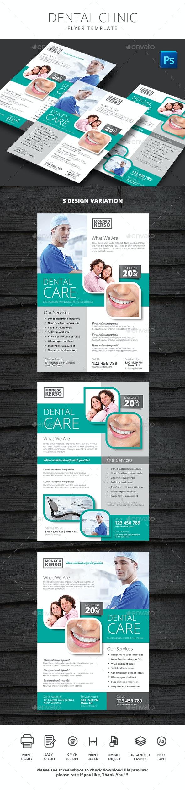 Dental Clinic - Flyers Print Templates
