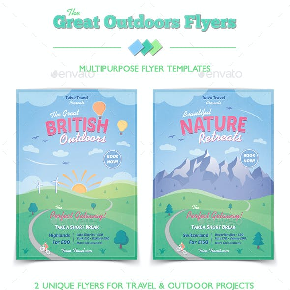 Travel and Outdoors Flyers