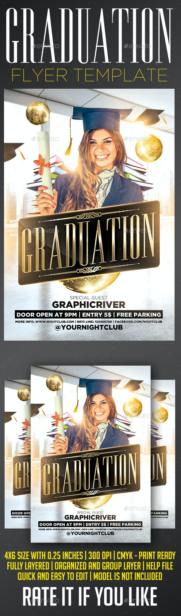 Graduation Flyer Template - Events Flyers