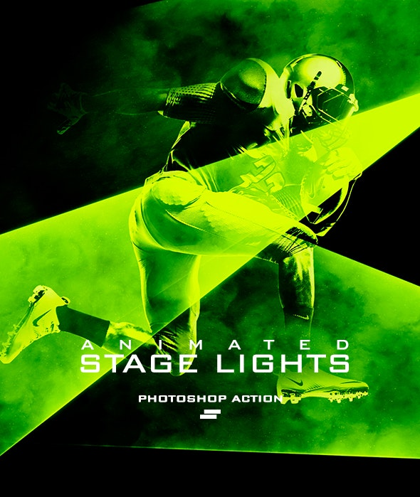 Gif Animated Stage Lights Photoshop Action - Photo Effects Actions