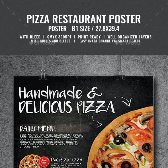 Pizza Burger and Pasta Restaurant Poster