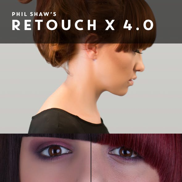 Retouch X 4.0 - Commercial Retouching Pack with custom interface panel