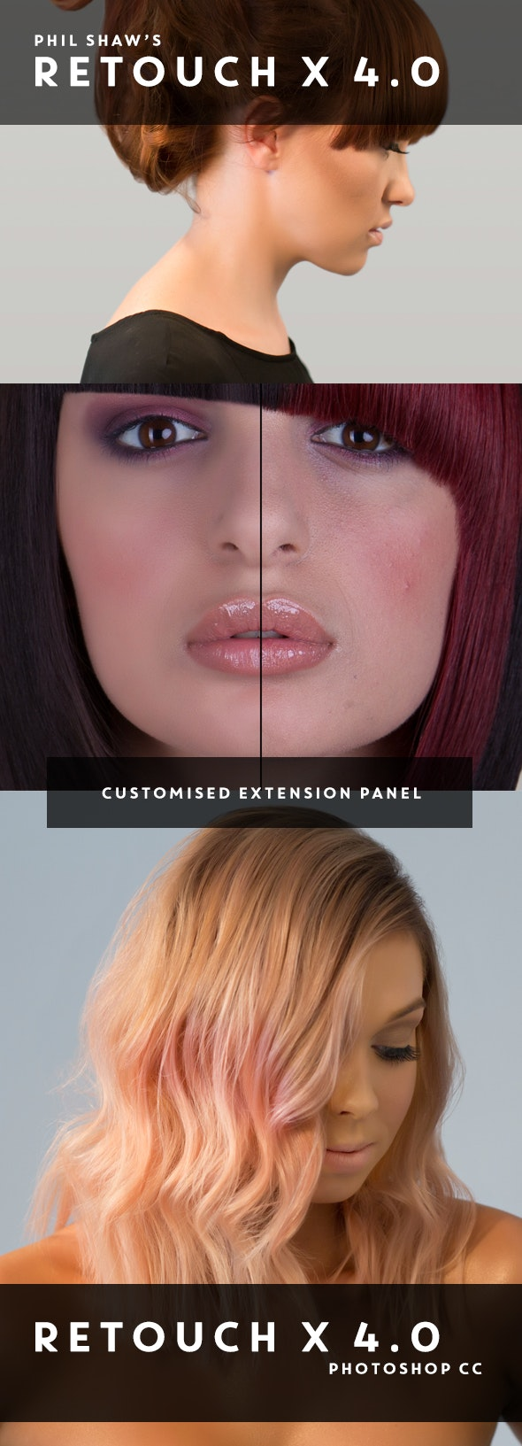 Retouch X 4.0 - Commercial Retouching Pack with custom interface panel - Photo Effects Actions
