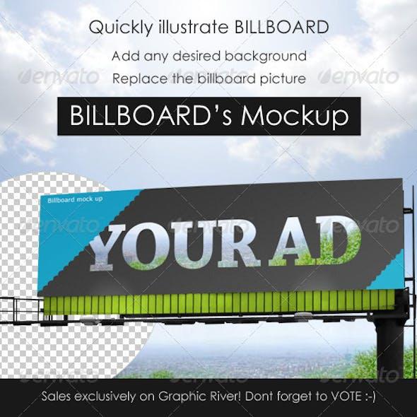 Professional Billboard mock up