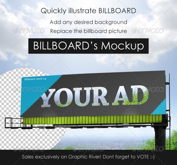 Professional Billboard mock up - Signage Print