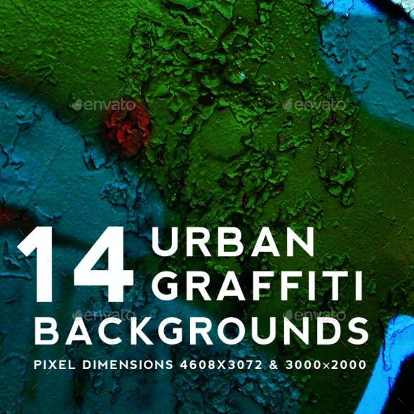 Urban Graffiti Backgrounds v7