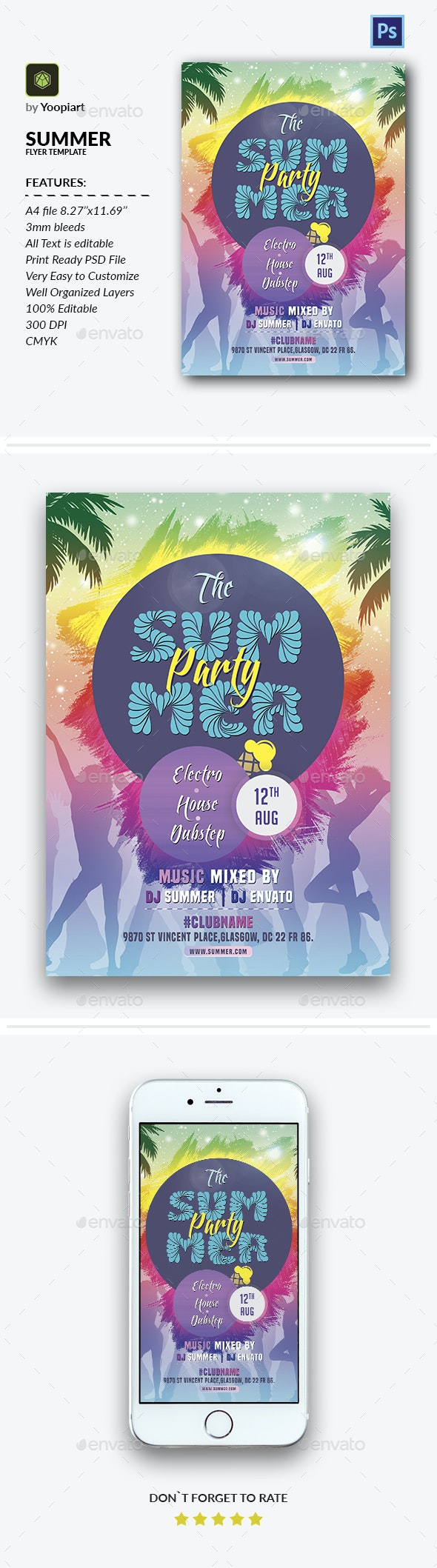 Summer Flyer Template - Events Flyers