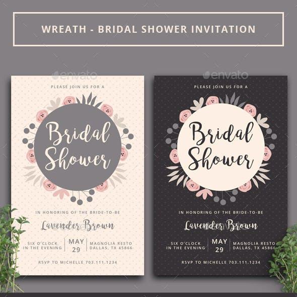 Wreath - Bridal Shower Invitation