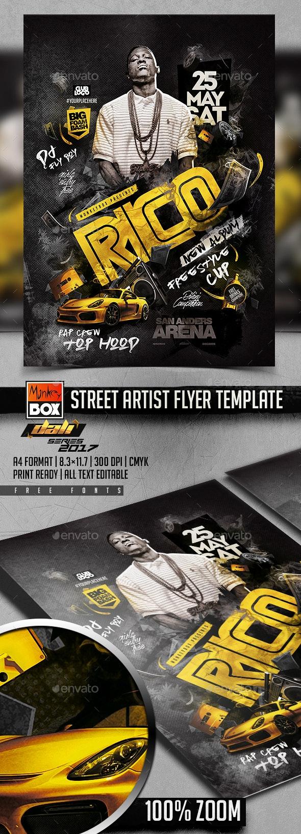Street Artist Flyer Template - Events Flyers