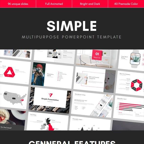 SIMPLE Multipurpose PowerPoint Template