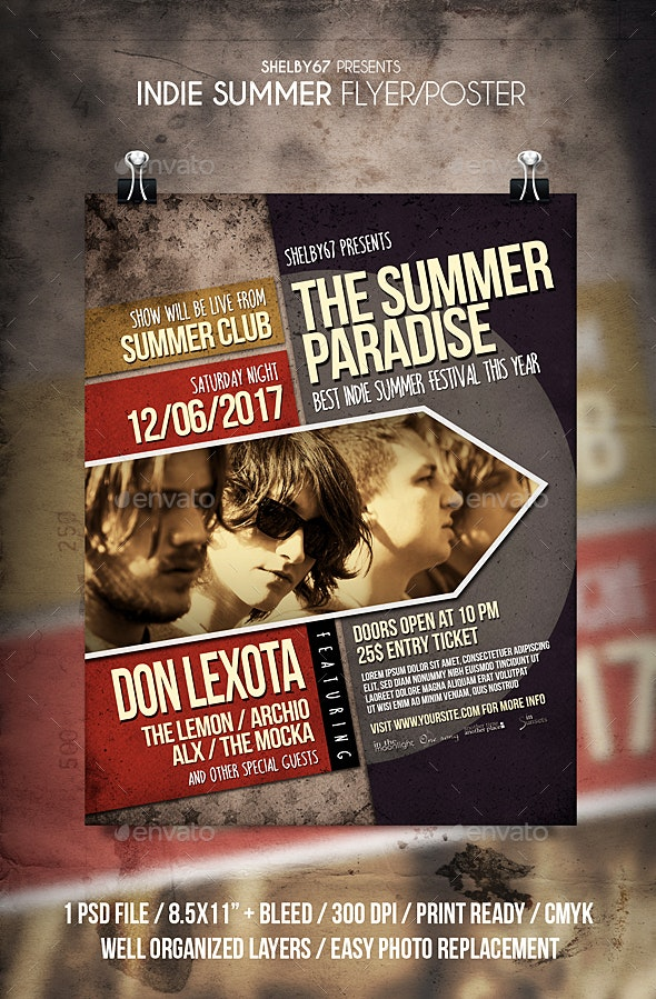 Indie Summer Flyer / Poster - Events Flyers