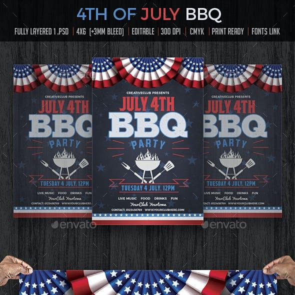 July 4th BBQ Flyer