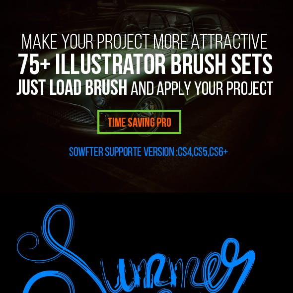 75+ illustrator Brushes