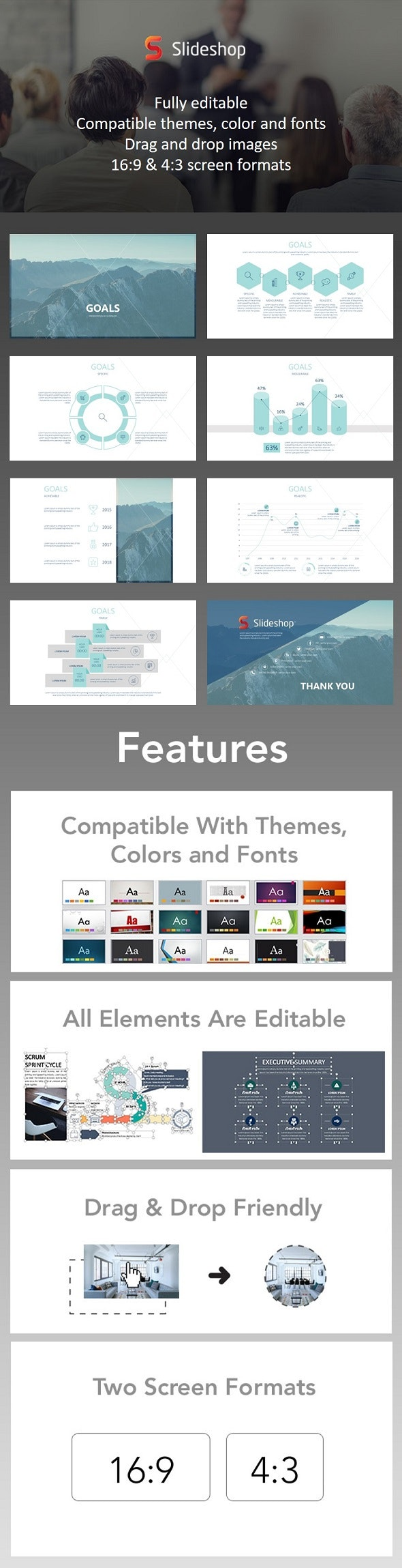 Goals - PowerPoint Templates Presentation Templates