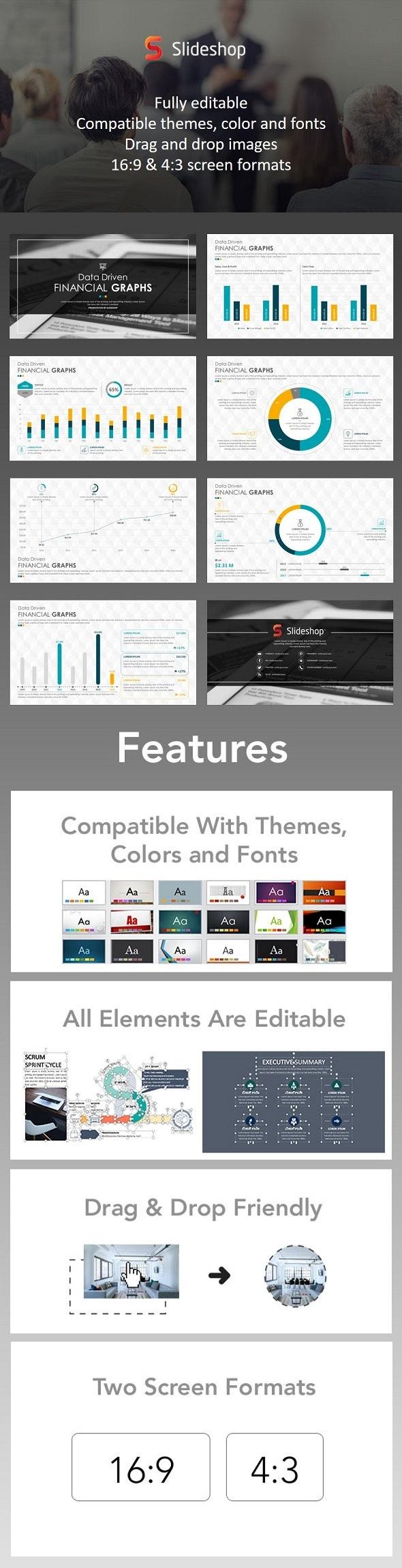 Data Driven Financial Graphs - PowerPoint Templates Presentation Templates